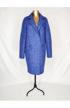 Светло-синее кашемировое пальто