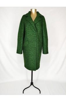 Зелёное кашемировое пальто