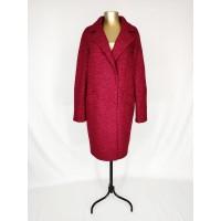 Бордовое кашемировое пальто