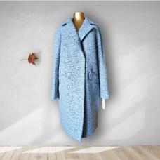 Голубое кашемировое пальто