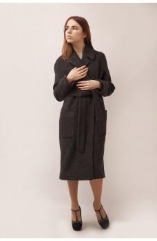 Пальто темно-серое