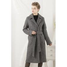 Прямое длинное пальто с двумя бортами