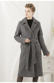 Прямое длинное двубортное пальто Hamson