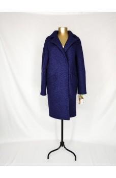 Темно-синее кашемировое пальто