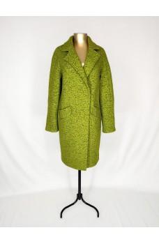 Салатовое кашемировое пальто